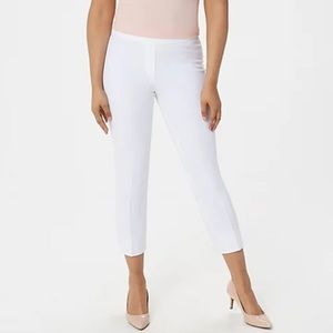 Dennis Basso Stretch Pull On Crop Pants White